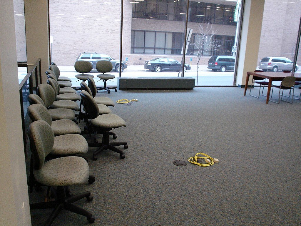 Office carpets that have been professionaly cleaned